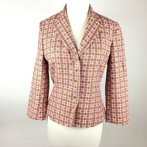 EXPRESS Pink Fitted Tailored Blazer Lined